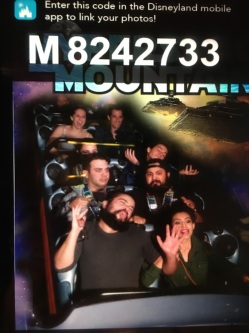 SPACE MOUNTAIN - my favorite ride!!!! (I think this is the second time we went on it!)